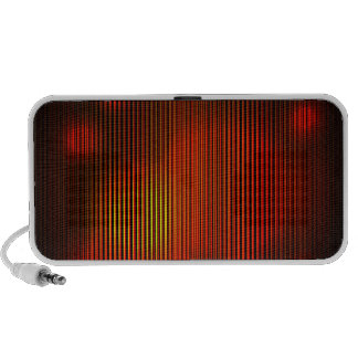 abstract funky red speaker