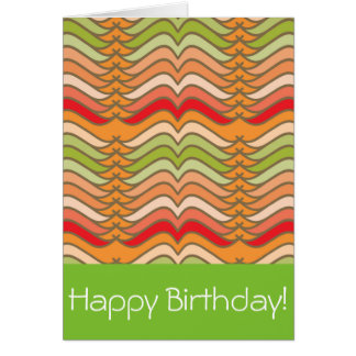 Abstract Funky Zig Zag Stripes Card