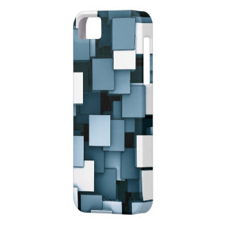 Abstract Futuristic Blue Cube Voxel Pattern iPhone 5 Covers