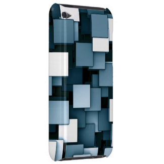 Abstract Futuristic Blue Cube Voxel Pattern iPod Touch Covers