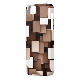 Abstract Futuristic Brown Cube Voxel Pattern iPhone 5 Covers