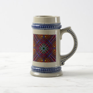 Abstract Futuristic Fractal 18 Oz Beer Stein