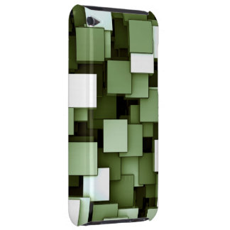 Abstract Futuristic Green Cube Voxel Pattern iPod Touch Covers