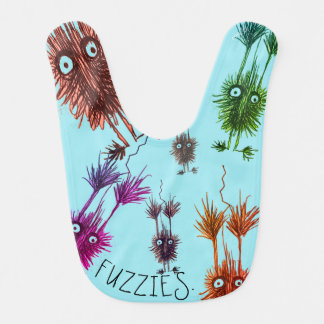 Abstract Fuzzies Baby Bib
