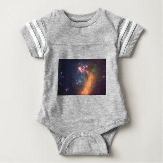 Abstract Galactic Color of Nebula Cloud Baby Bodysuit