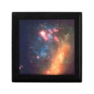 Abstract Galactic Color of Nebula Cloud Gift Box