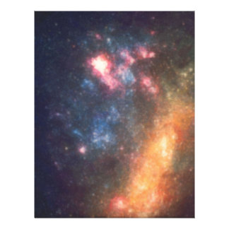 Abstract Galactic Color of Nebula Cloud Letterhead