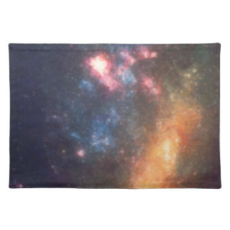 Abstract Galactic Color of Nebula Cloud Placemat