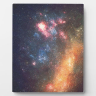 Abstract Galactic Color of Nebula Cloud Plaque