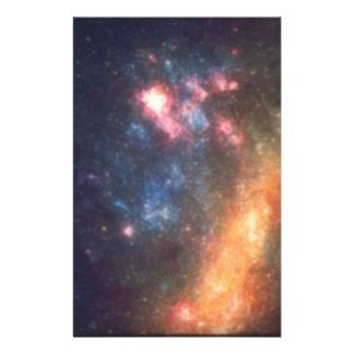 Abstract Galactic Color of Nebula Cloud Stationery