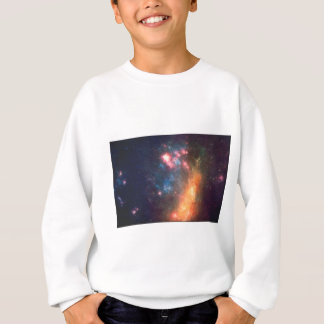 Abstract Galactic Color of Nebula Cloud Sweatshirt