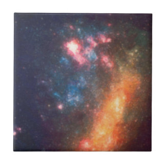 Abstract Galactic Color of Nebula Cloud Tile