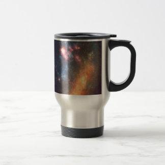Abstract Galactic Color of Nebula Cloud Travel Mug