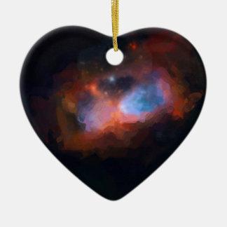 abstract galactic nebula no 1 ceramic ornament