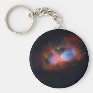 abstract galactic nebula no 1 keychain