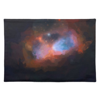 abstract galactic nebula no 1 placemat
