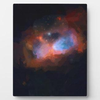 abstract galactic nebula no 1 plaque