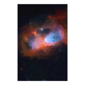 abstract galactic nebula no 1 stationery