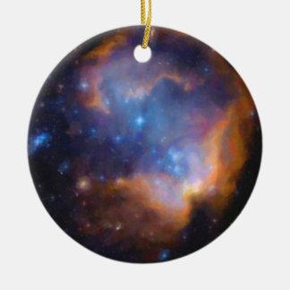 abstract galactic nebula no 2 ceramic ornament