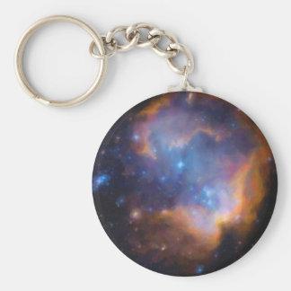 abstract galactic nebula no 2 keychain