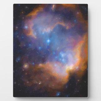 abstract galactic nebula no 2 plaque