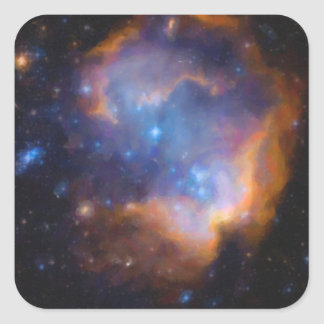 abstract galactic nebula no 2 square sticker