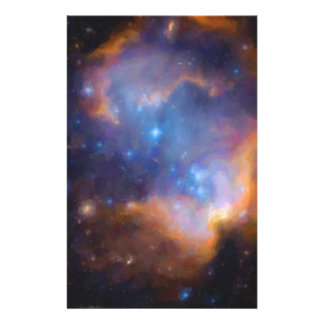 abstract galactic nebula no 2 stationery