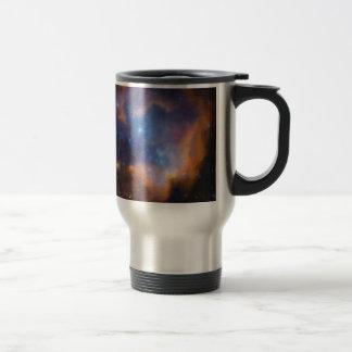 abstract galactic nebula no 2 travel mug