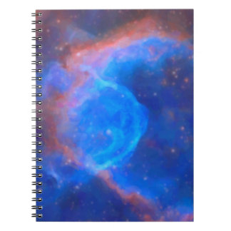Abstract Galactic Nebula with cosmic cloud 10 Notebook