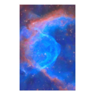 Abstract Galactic Nebula with cosmic cloud 10 Stationery