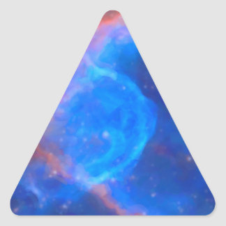 Abstract Galactic Nebula with cosmic cloud 10 Triangle Sticker