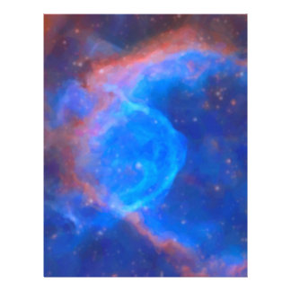 Abstract Galactic Nebula with cosmic cloud 10 xl.j Letterhead