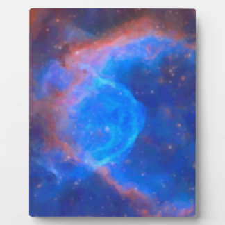 Abstract Galactic Nebula with cosmic cloud 10 xl.j Plaque
