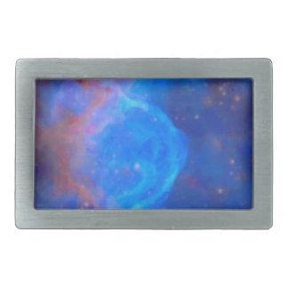 Abstract Galactic Nebula with cosmic cloud 10 xl.j Rectangular Belt Buckle