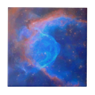 Abstract Galactic Nebula with cosmic cloud 10 xl.j Tile
