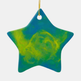 Abstract Galactic Nebula with cosmic cloud 11 Ceramic Ornament