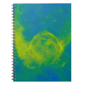 Abstract Galactic Nebula with cosmic cloud 11 Notebook