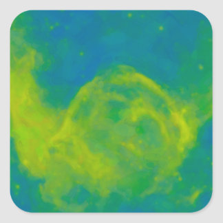 Abstract Galactic Nebula with cosmic cloud 11 Square Sticker