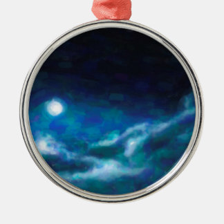 Abstract Galactic Nebula with cosmic cloud  14 Metal Ornament
