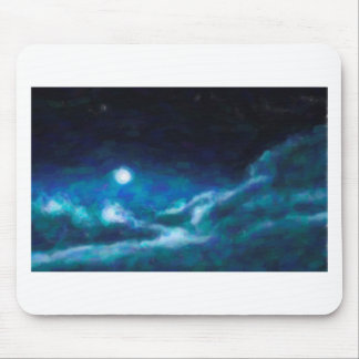 Abstract Galactic Nebula with cosmic cloud  14 Mouse Pad