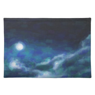 Abstract Galactic Nebula with cosmic cloud  14 Placemat