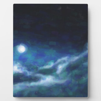 Abstract Galactic Nebula with cosmic cloud  14 Plaque