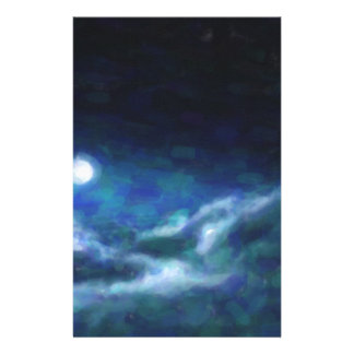 Abstract Galactic Nebula with cosmic cloud  14 Stationery