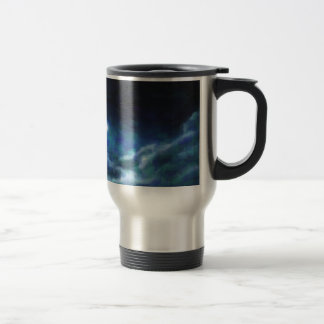 Abstract Galactic Nebula with cosmic cloud  14 Travel Mug