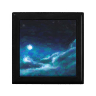 Abstract Galactic Nebula with cosmic cloud  14 Trinket Boxes