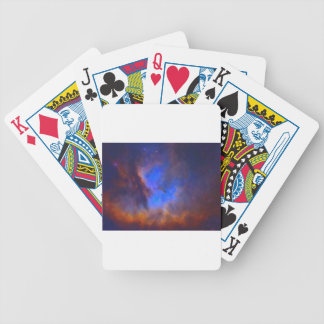 Abstract Galactic Nebula with cosmic cloud 2 Bicycle Playing Cards