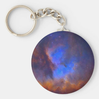 Abstract Galactic Nebula with cosmic cloud 2 Keychain