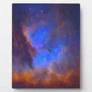 Abstract Galactic Nebula with cosmic cloud 2 Plaque