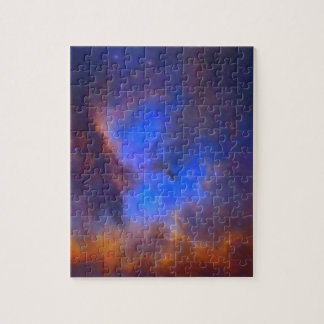 Abstract Galactic Nebula with cosmic cloud 2 Puzzle