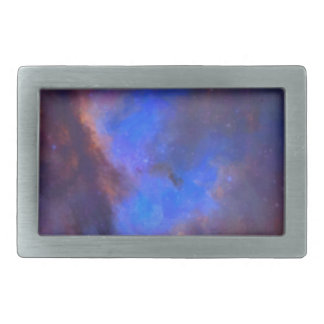 Abstract Galactic Nebula with cosmic cloud 2 Rectangular Belt Buckles